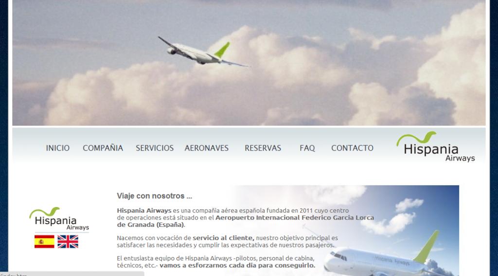Hispania Airways, nueva aerolínea en Granada