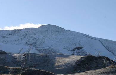 Primeras nieves de la temporada en Sierra Nevada