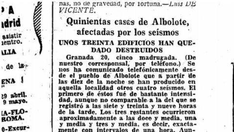 Recuerdos del terremoto de Granada